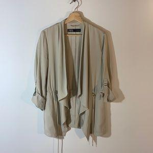 Zara Waterfall Tab Sleeve Jacket